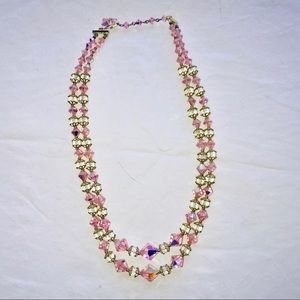 Jewelry - Vintage Crystal necklace ~